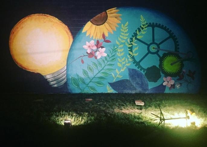 nighttime mural